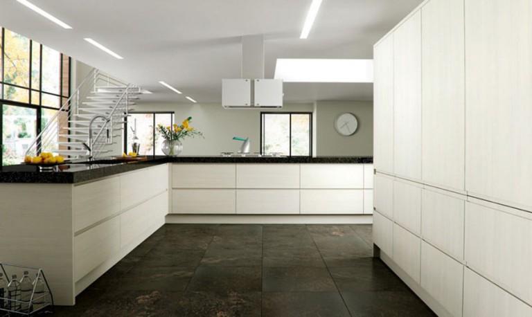 Knebworth contemporary kitchen door.