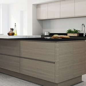 Isala wood grain kitchen door