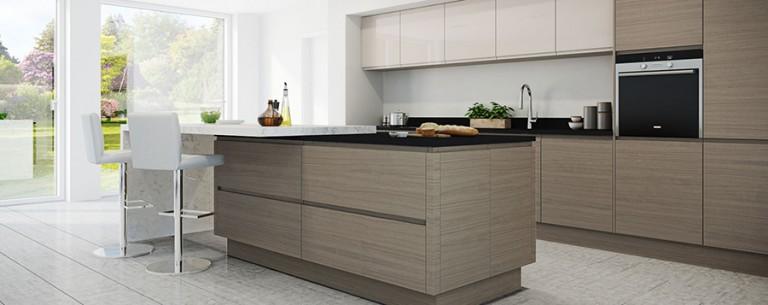 Isala wood grain kitchen door