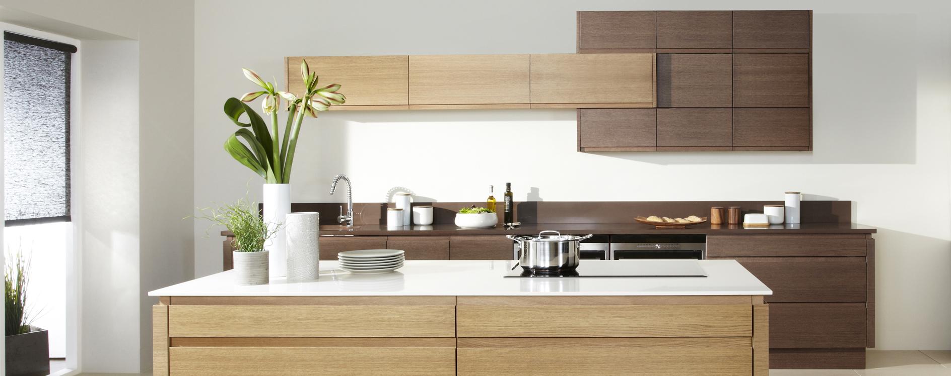 Malmo wood grain contemporary kitchen martha mockford for Wood grain kitchen doors