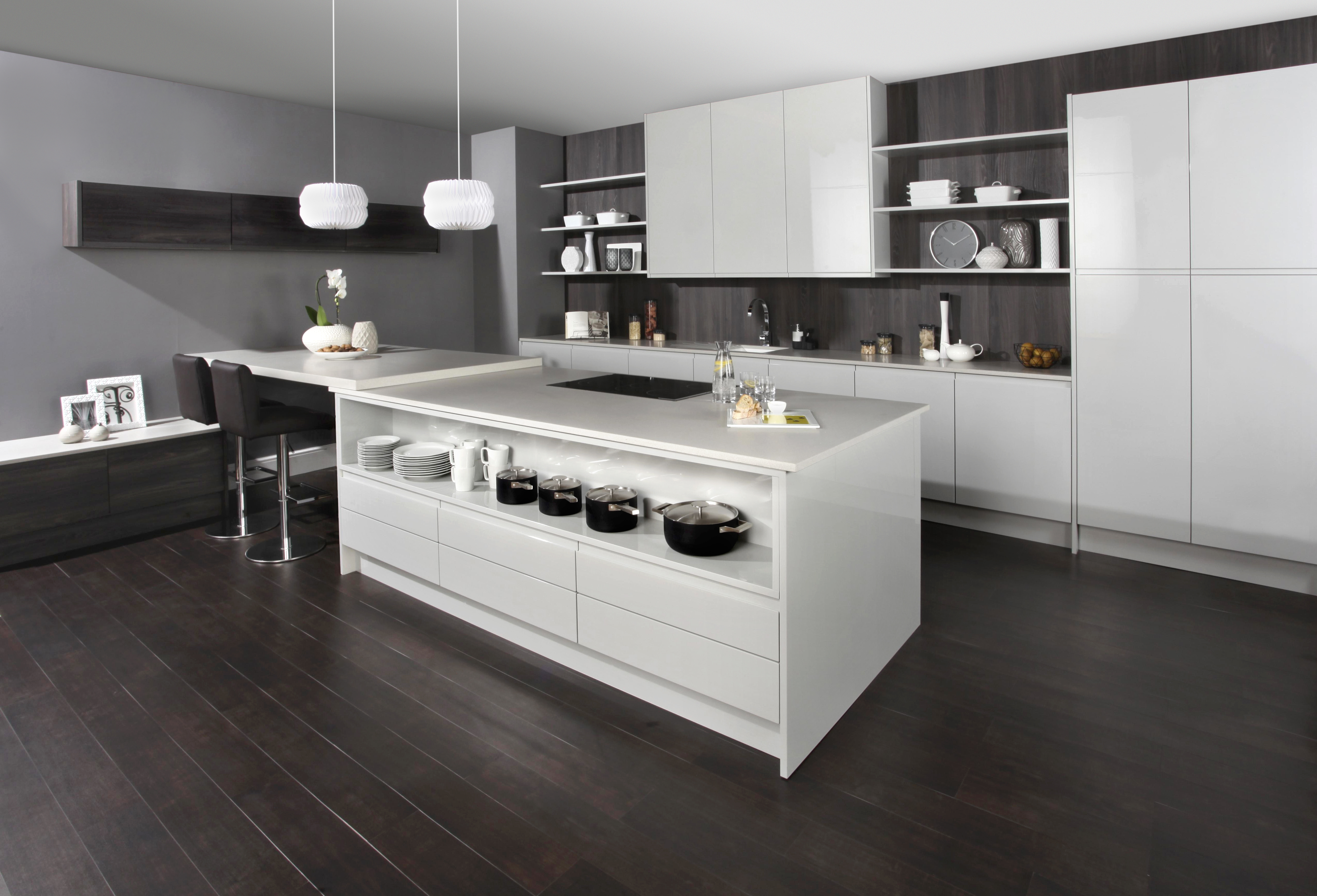 Isala Painted Contemporary Kitchen Martha Mockford - Matt grey kitchen doors
