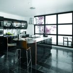 Avant contemporary high gloss black