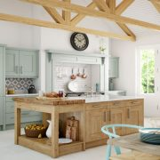 Clonmel Classic Natural Oak & Light Blue